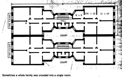 tenement floor plan tenement reform new style floor plan with fewer