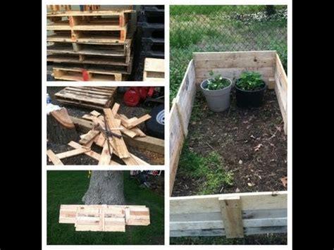 raised garden bed  pallets youtube