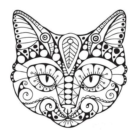 geometric cat coloring page abstrakcyjne kolorowanki dla dorosłych
