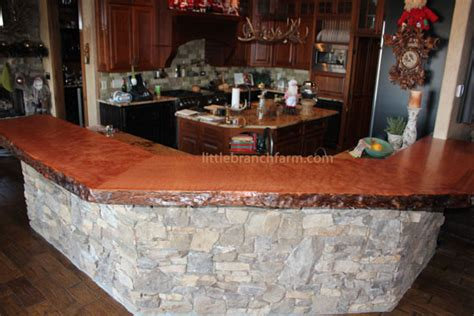 Bar Top Slabs by Custom Bars Live Edge Wood Slabs Littlebranchfarm