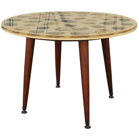 unusual side tables unusual pair of resin and abalone round side tables at 1stdibs