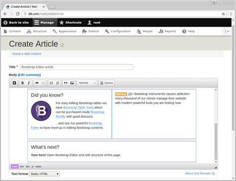 installing bootstrap on drupal js bootstrap editor drupal 8 module