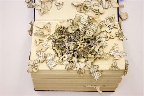 How To Make A Paper Sculpture - book paper sculptures fubiz media