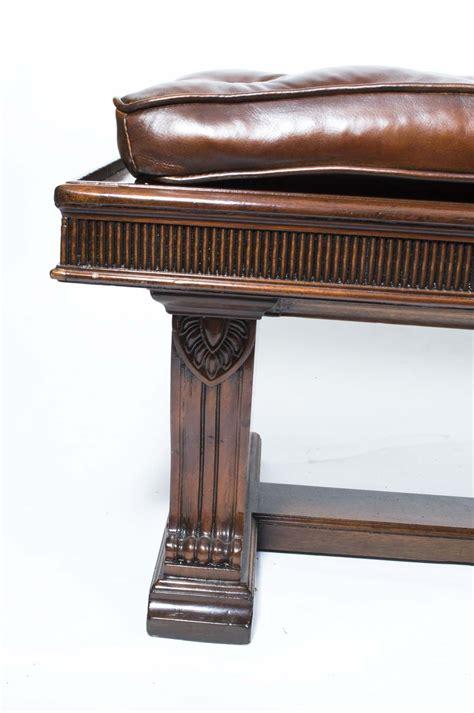 antique banquette regent antiques sofas and stools antique 6ft leather banquette stool william iv c1835