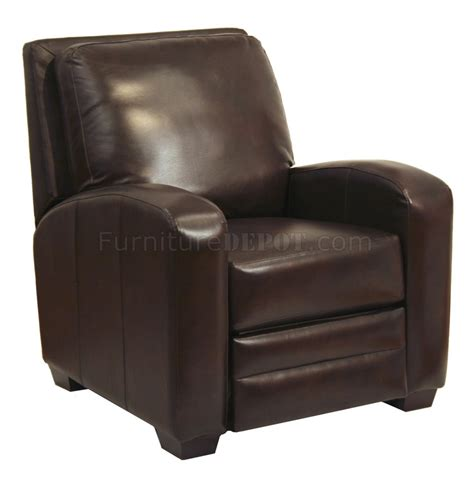 modern recliner chairs leather chocolate bonded leather avanti modern reclining chair