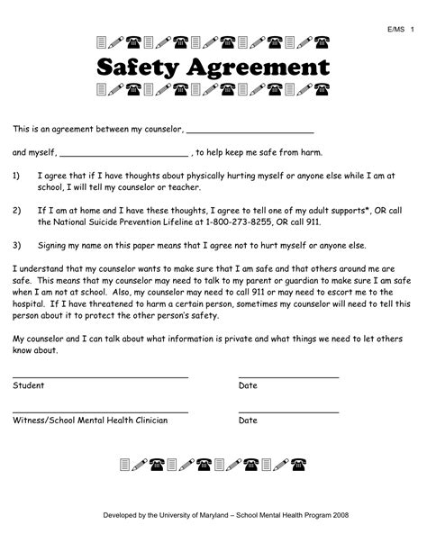 contract for safety template template for faith contract free software and