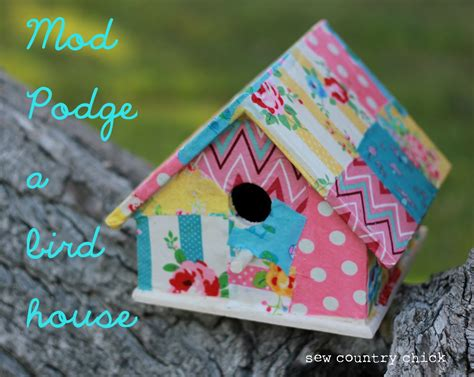birdhouses crafts mod podge a birdhouse crafts with