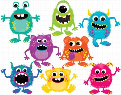 monsters free clip fluffy monsters clipart panda free clipart