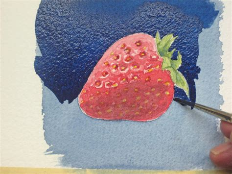 how to water color how to paint strawberries a watercolour demo