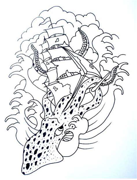 tattoo line drawings ship tattoo drawings