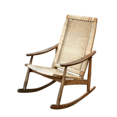 rocking chair with rocking ottoman danish vintage rocking lounge chair and ottoman set ebay