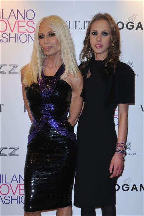 Allegra Versace Clings To In Anorexia Battle by Wallpaper 2011 Donatella Versace Anorexia