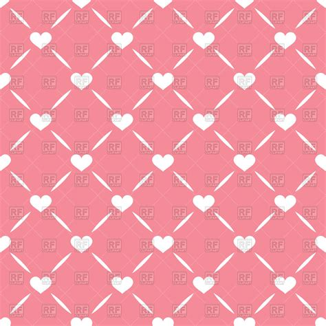 seamless pattern pink free pink seamless pattern with grid and hearts vector image