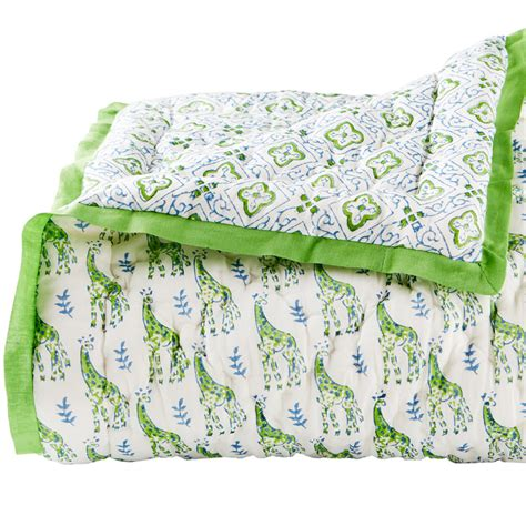 Blue And Green Quilt Pondicherry Blue And Green Toddler Quilt By Rikshaw Design