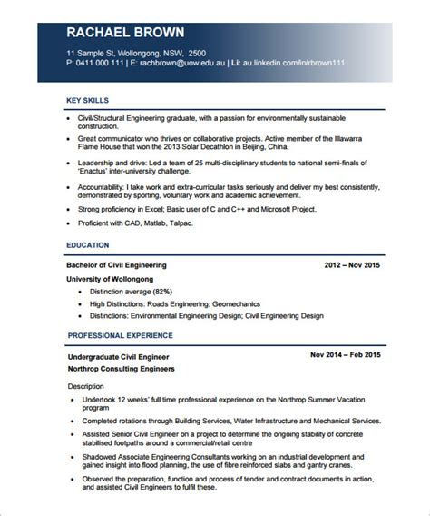 civil engineer resume template 10 civil engineer resume templates word excel pdf