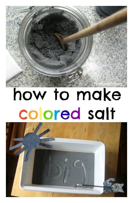 how to make colored how to make colored salt for sensory play nurturestore