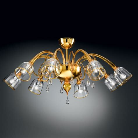 Quot Duncan Quot Murano Glass Ceiling Light Murano Glass Murano Ceiling Light