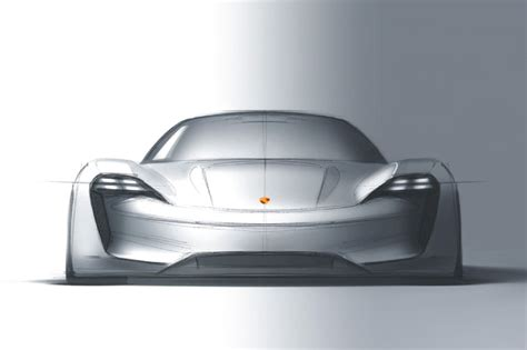 porsche mission e sketch porsche mission e concept showcases brand s electric intent