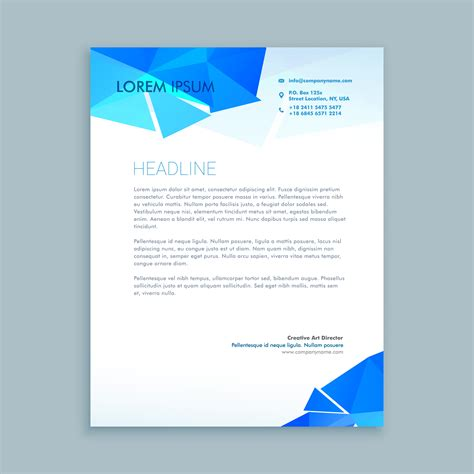 letter template design vector creative letter document template vector design