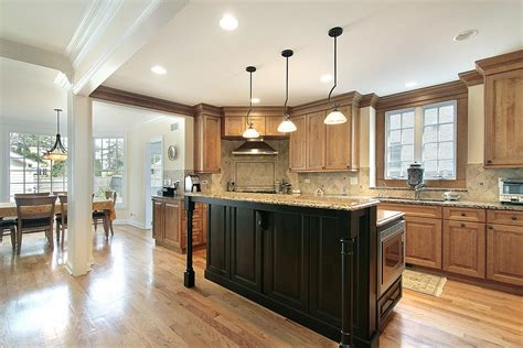 Open Kitchen Designs With Island by Gourmet Kitchens And Cabinets Hannegan Construction