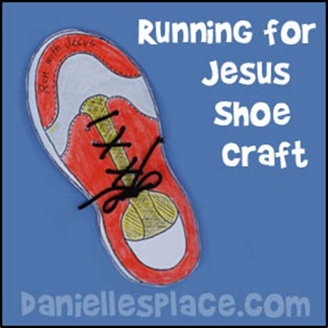 how to craft running shoes bible crafts for sunday school s