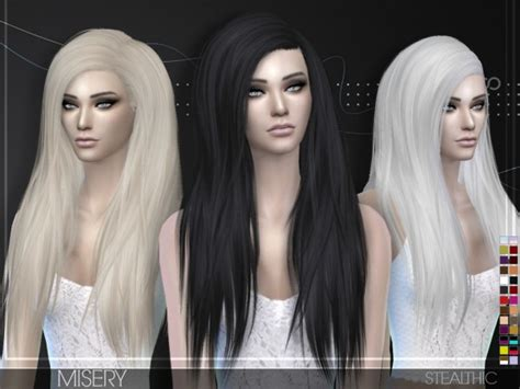 the sims resource stealthic captivated hair sims 4 sims 4 hairs stealthic misery hairstyle