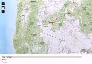 map of oregon fires oregon smoke information current oregon wildfire map for