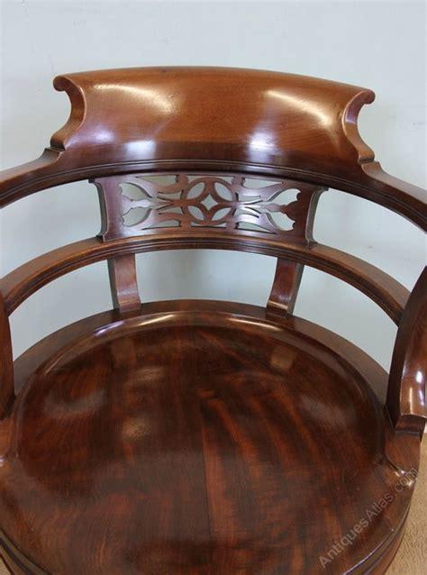 antique swivel chair parts antique mahogany swivel desk chair antiques atlas