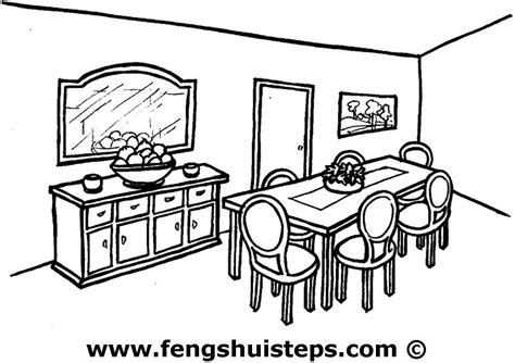 Dining Room Table Clipart Black And White Feng Shui Tips For Your Dining Room Feng Shui Steps
