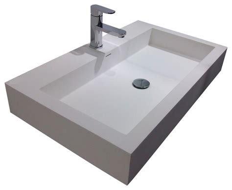 resin sinks bathrooms adm white wall hung stone resin sink white glossy contemporary bathroom sinks