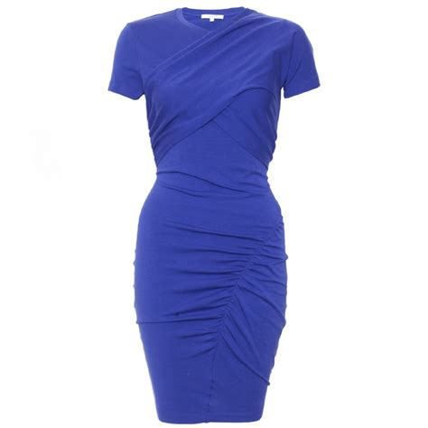 youth blue 56 jersey shopping guide p 629 carven draped jersey cobalt blue dress cricket fashion