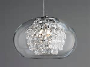 Pendant lamp design glass optical crystal globe crystal and glass