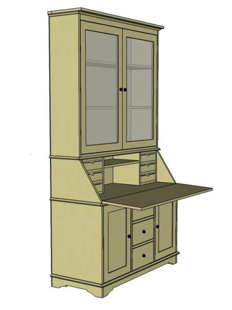 Drop Front Desk Plans by Drop Front Desk Plans Woodworking Projects Plans