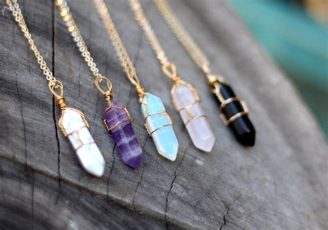 crystals for jewelry wire wrap necklace necklace healing