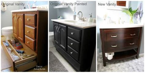 Painting Bathroom Vanity Before And After Small Master Bathroom Makeover 187 Decor Adventures