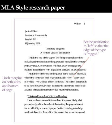 essay format justified mla style guide margins