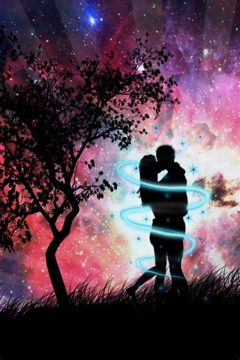 wallpaper iphone kiss night couple kissing iphone 4 wallpapers 640x960 hd