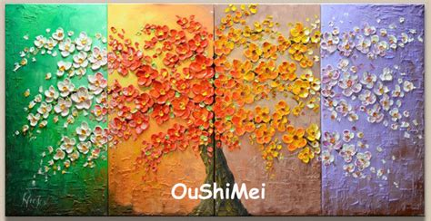 Painting 4 Seasons by Painted Four Seasons Landscape Painting Picture