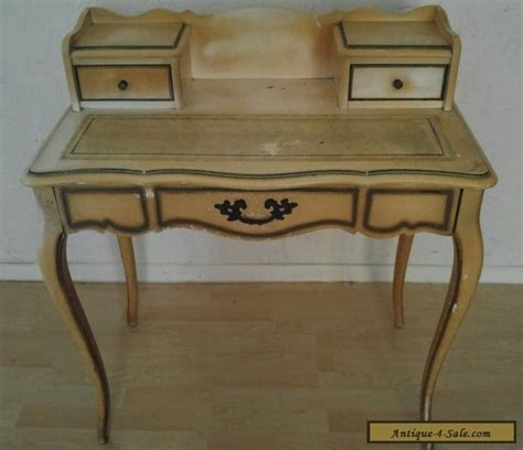 Provincial Desk For Sale by Antique Hammary Provincial Leather Top 3 Drawer Writing Desk For Sale In United States