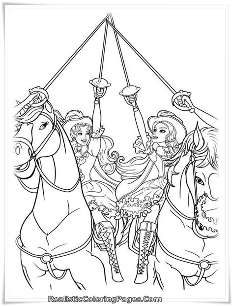 barbie musketeers coloring pages free coloring pages of barbie and the three musketeer