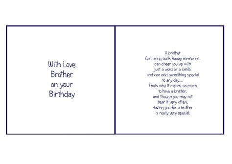 printable birthday card verses 6x6 brother birthday card verses pinterest brother
