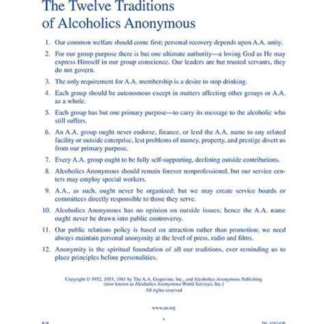 na twelve traditions the twelve traditions of alcoholics anonymous