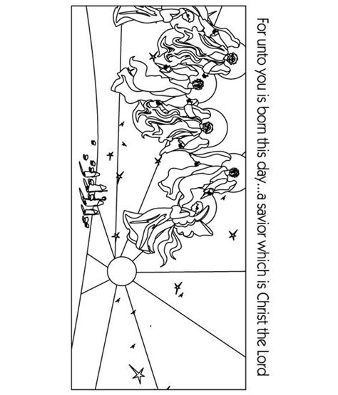 angels visit shepherds coloring page colouring sheets angel and christian on pinterest