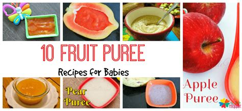fruit 5 month baby 10 nutritious fruit puree recipe for babies my moppet