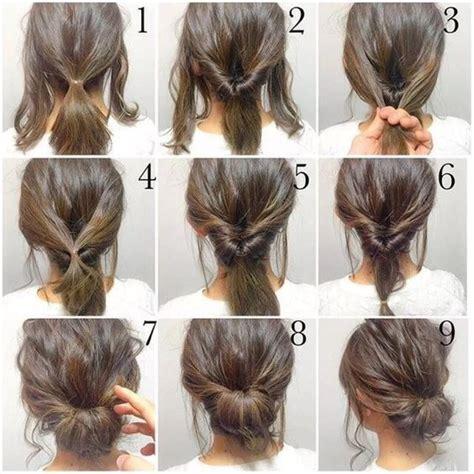 bun hair direction 5 minute hair bun fashion hair diy hairdo updo hairstyle