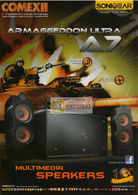 Sonic Gear Armageddon Molotov 1 leap frog sonicgear speakers armaggeddon ultra a7 speakers comex 2011 price list brochure flyer