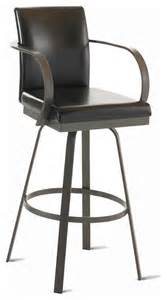 Upholstered Bar Stools With Arms Amisco Lance Upholstered Back Swivel Stool With Arms 41436