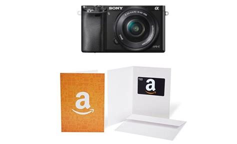 Adorama Gift Card - free 50 gift card when buy sony a6000 at amazon adorama sony deal