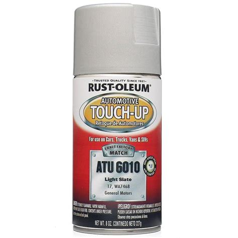 rust oleum automotive 8 oz light slate auto touch up spray 6 pack atu6010 the home depot