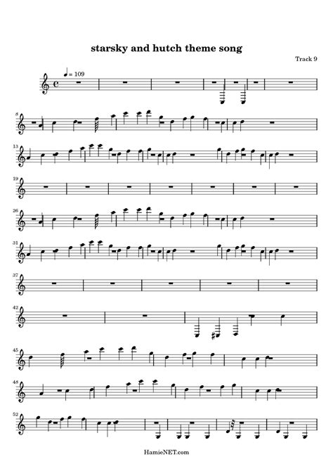 Starsky And Hutch Theme Song Original starsky and hutch theme song sheet starsky and hutch theme song score hamienet